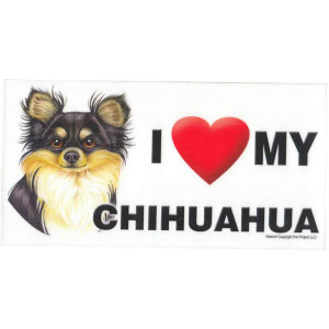 I Love My Chihuahua Dog Fridge Office Fun Magnet