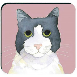coaster-black-white-cat