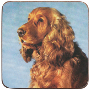 Cocker Spaniel Dog Cork Backed Drink Coaster