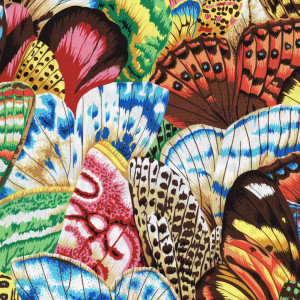 Beautiful Colourful Butterfly Wings Quilt Fabric