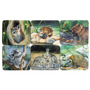 Coasters Cork Backed Set of 6 Animals of Australia