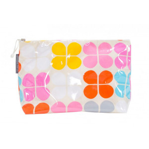 Colourful Clover Sorbet Large Cosmetic Make Up Zip Bag