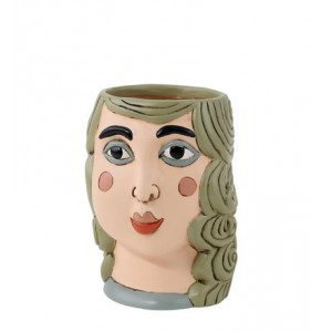 Curly Hair Lady Resin Indoor Pot Planter