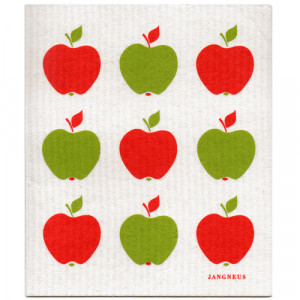 Apples Red and Green Design Eco Friendly Kitchen Dishcloth