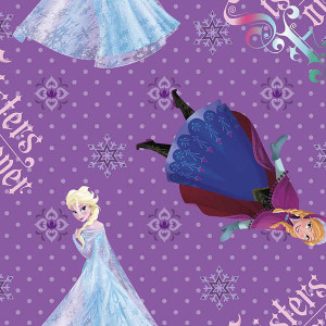 Disney Frozen Purple Anna Elsa Girls Licensed Quilt Fabric