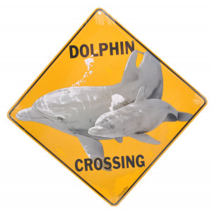 Dolphin Crossing Road Sign