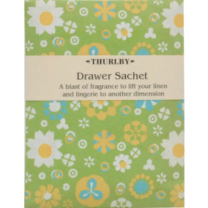 Botanical Green Scented Fragrant Drawer Sachet
