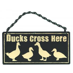 Ducks Cross Here Metal Home & Garden Sign