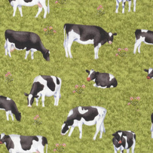 Cows Buttercup Farm Makower Quilt Fabric