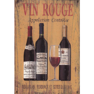 Vin Rogue Wine Greeting Card by Martin Wiscombe