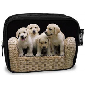 Labrador Puppies Dogs Cosmetic Bag