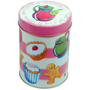 Tea Time Coffee Tin Cupcakes Gingerbread Canister
