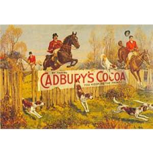 Cadburys Cocoa Horses Nostalgic Postcard
