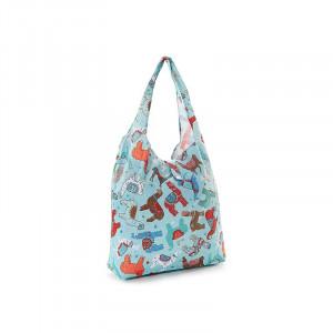 Llama Eco-Chic Foldaway Waterproof Shopper Bag