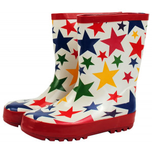Colourful Stars Design Kids Childrens Wellies Gumboots