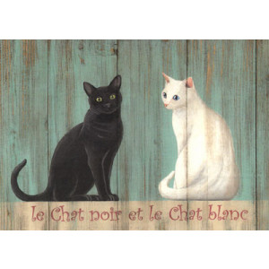 Le Chat Noir Cat Greeting Card by Martin Wiscombe