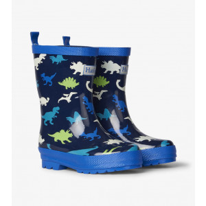 Dinosaur Herd Shiny Kids Rainboots Gumboots By Hatley