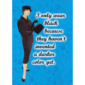 I Only Wear Black Retro Greeting Card