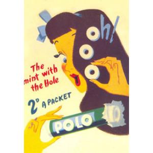 Polo Mints Nostalgic Postcard