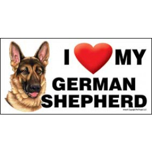 I Love My German Shepherd Dog Fridge Office Fun Magnet