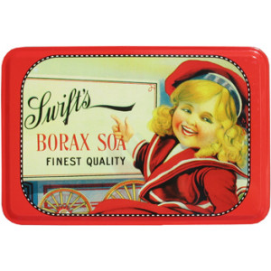 Swifts Borax Soap Nostalgic Reproduction Storage Tin With Hinged Lid