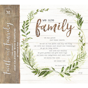 Faith and Family by Marla Rae 2021 Legacy Wall Calendar With Scripture