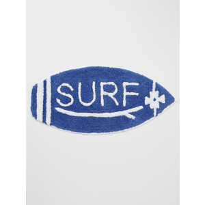 Surfboard Shaped 100% Woven Cotton Pile Floor or Door Mat