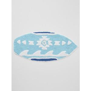 Wave Surf Design 100% Woven Cotton Pile Floor or Door Mat