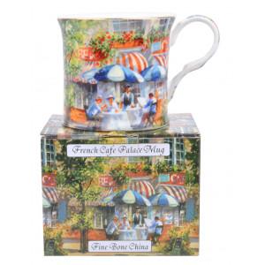 French Cafe Fine Bone China Palace Tea Coffee Mug Cup