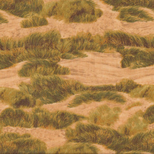 Golden Sand Dunes Beach Landscape Quilt Fabric