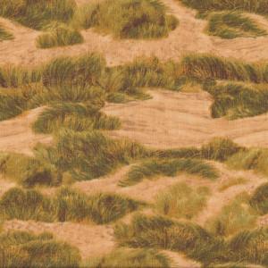 Golden Sand Dunes Beach Landscape Quilt Fabric