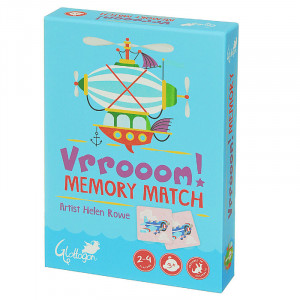 Vrrooom Cars Scooter Bike Memory Match Kids 2 Games in 1