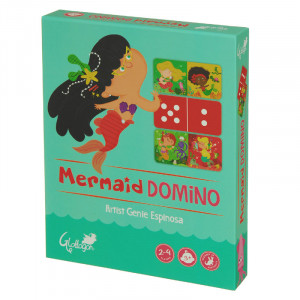 Mermaid Domino 2 Games in 1 Kids Puzzle