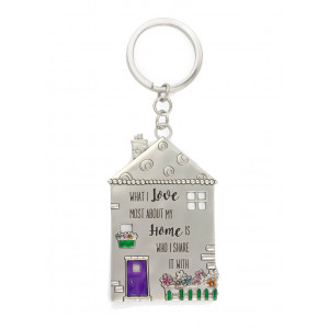 What I Love Most About My Home Pewter Keyring