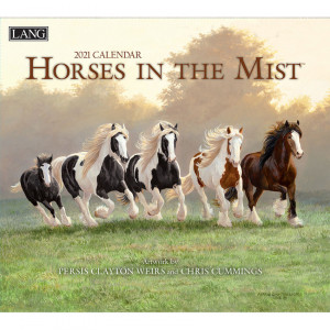 Horses in the Mist Persis Clayton Weirs and Chris Cummings 2021 Lang Wall Calendar
