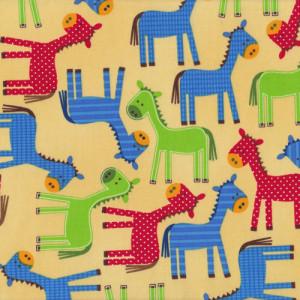 Horses Pony Urban Zoologie Quilt Fabric