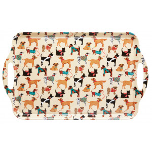 Dog Breeds Scottie Pug Dalmatian Large Melamine Kitchen Serving Tray