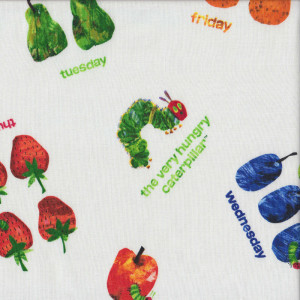 Very Hungry Caterpillar Fruit Week Days Kids Quilt Fabric