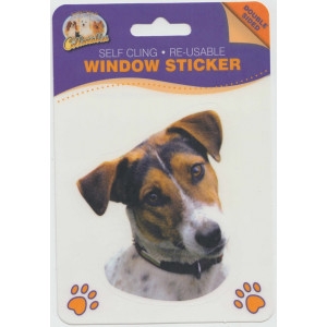 Jack Russell Dog Self Cling Re-usable Window Sticker