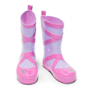 Kidorable Girls Toddlers Ballerina Wellies Rain Boots Gumboots Size 4 or 6