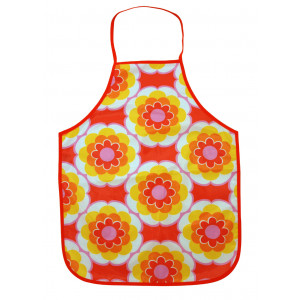 Colourful Flowers Easy Wipe Cooking Gardening Craft Childrens Apron