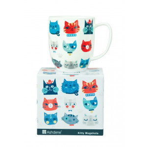 Cute Kitty Cat Kitten Faces Fine Bone China Tea Coffee Mug Cup