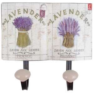 Lavender Design Metal Double Coat Hook