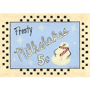 Frosty Milkshakes 5c Design 5 x 7 Print