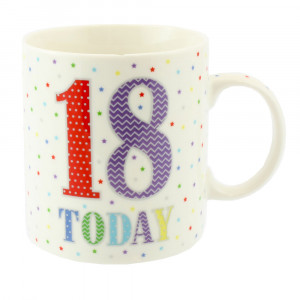 18 Today Birthday Stars Fine China Tea Coffee Mug