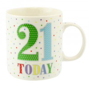 21 Today Birthday Stars Fine China Tea Coffee Mug