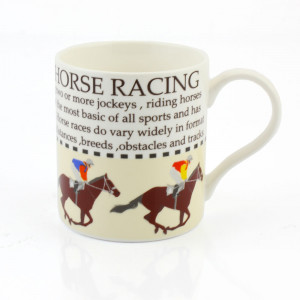 Horse Racing Fine China Tea Coffee Mug