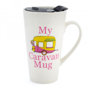 My Caravan Ceramic Travel Mug With Non Spill Lid