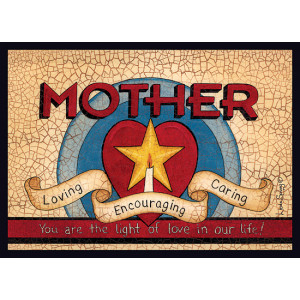 Mother Loving Encouraging Caring 5 x 7 Print