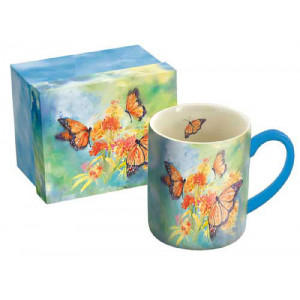 Majestic Monarch Butterflies Ceramic Tea Coffee Cup Mug by Susan Winget